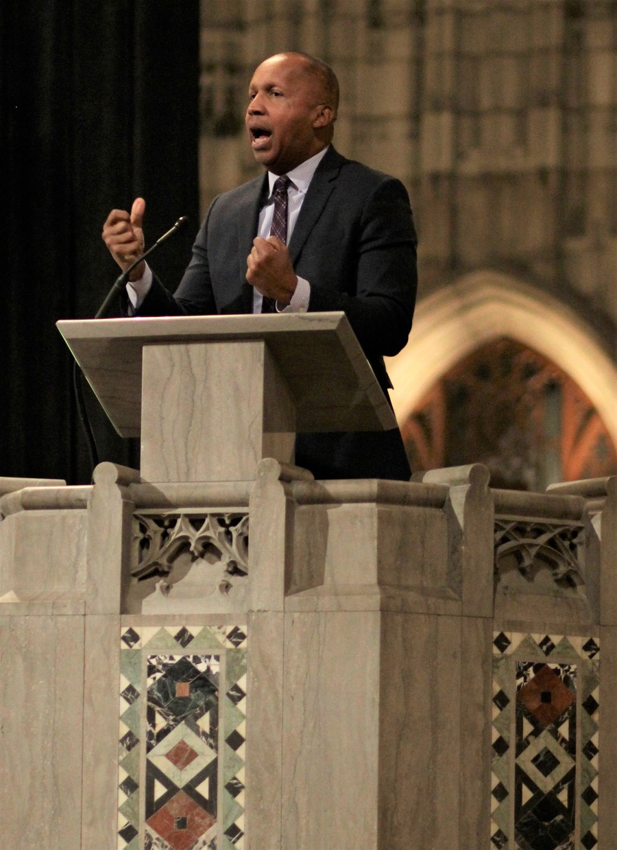 A leading advocate against injustice in the criminal justice system delivered the keynote address during the annual Martin Luther King Jr. Day celebration at Rockefeller Chapel.