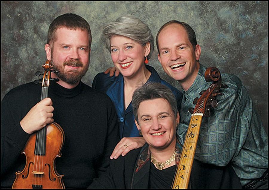 The original members of the Newberry Consort (David Douglass, Ellen Hargis, Mary Springfels, and Drew Minter) reunite for a concert at Logan Center.