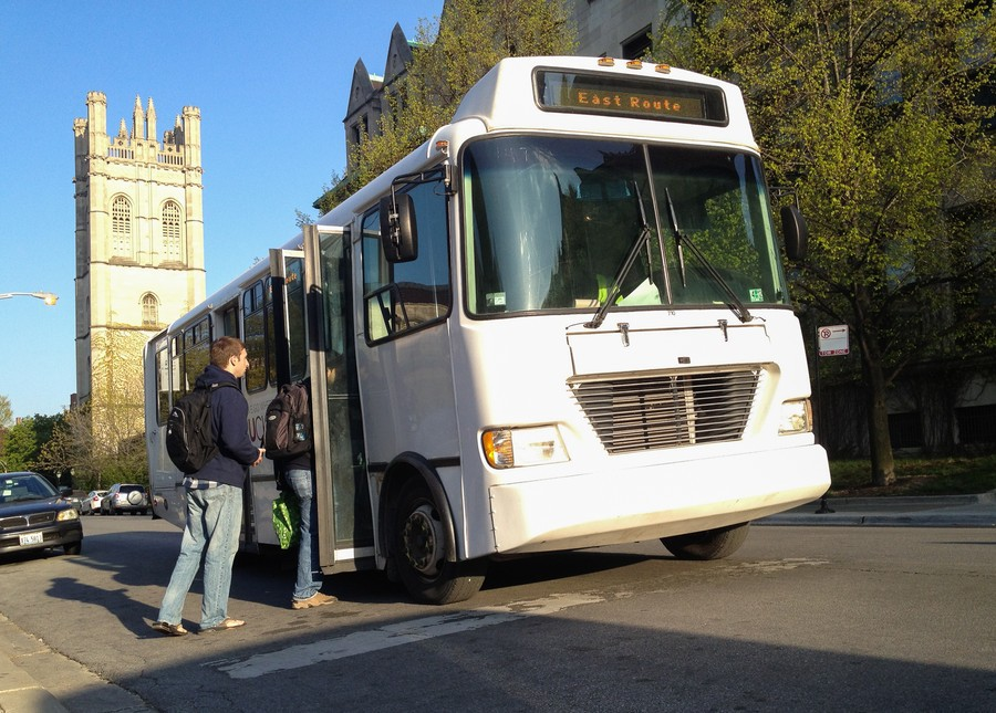 The 53rd Street Express and the Polsky Express shuttles have three and one additional stops, respectively.