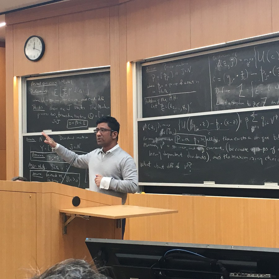 Law Professor Aziz Huq laid out the legal situation to a packed lecture hall yesterday, during a time slot that was to be filled by a Iranian-Canadian professor.