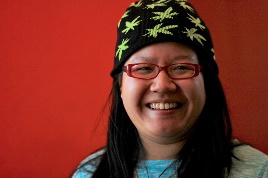 Fourth year Emily Truong has worn her signature weed hat since winter quarter of her first year.