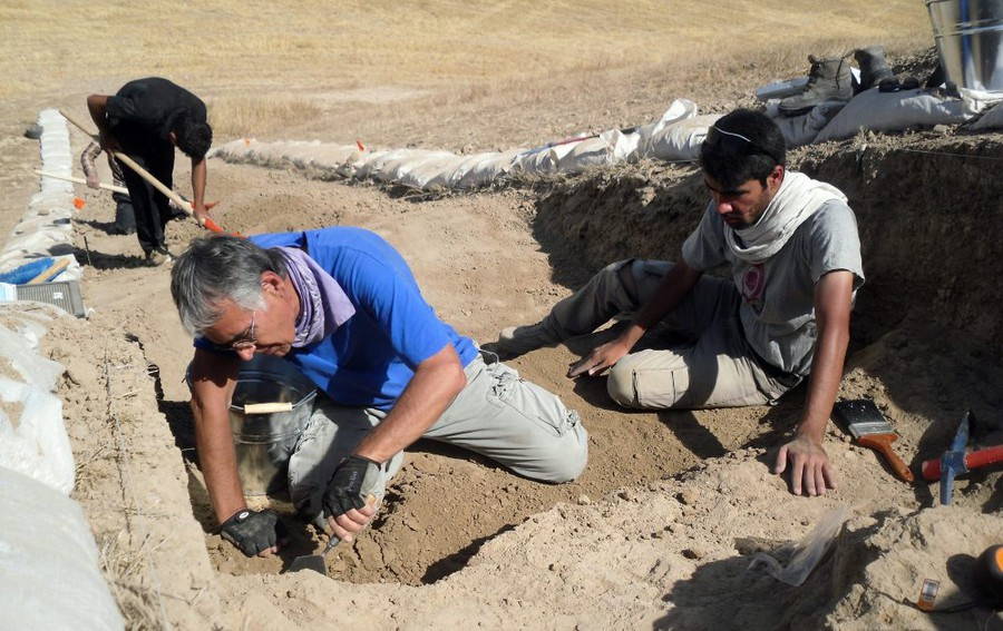 Oriental Institute archaeologists pictured working at a site in Iraq, one of the countries covered  by the order.