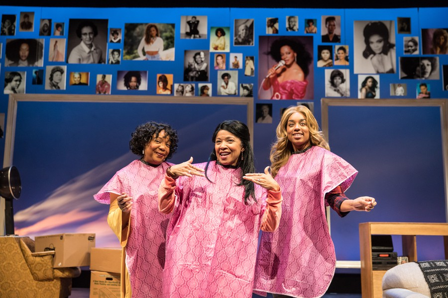 Bell Grand Lake (Jacqueline Williams), First Lady (Linda Bright Clay), and Normal Beverly (Camille Robinson) harmonize at the hair salon.