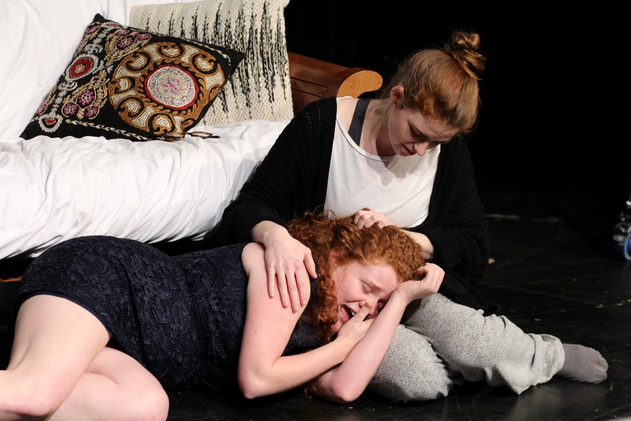 In the play, Kat (Emma Maltby) and Sam (Margaret Glazier) face the joys and pains of growing up.