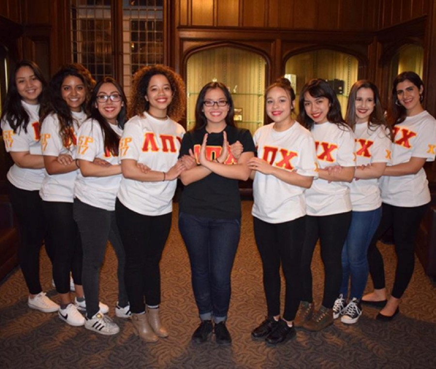 The 2017 intake class of the Chi Chapter of Lambda Pi Chi Sorority, Inc