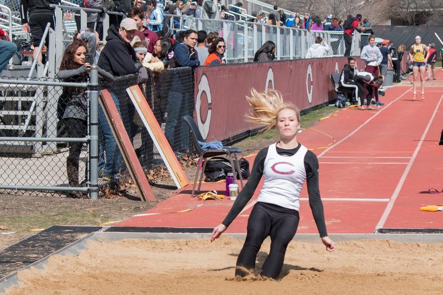 Third-year Vivian Barclay completes a jump.