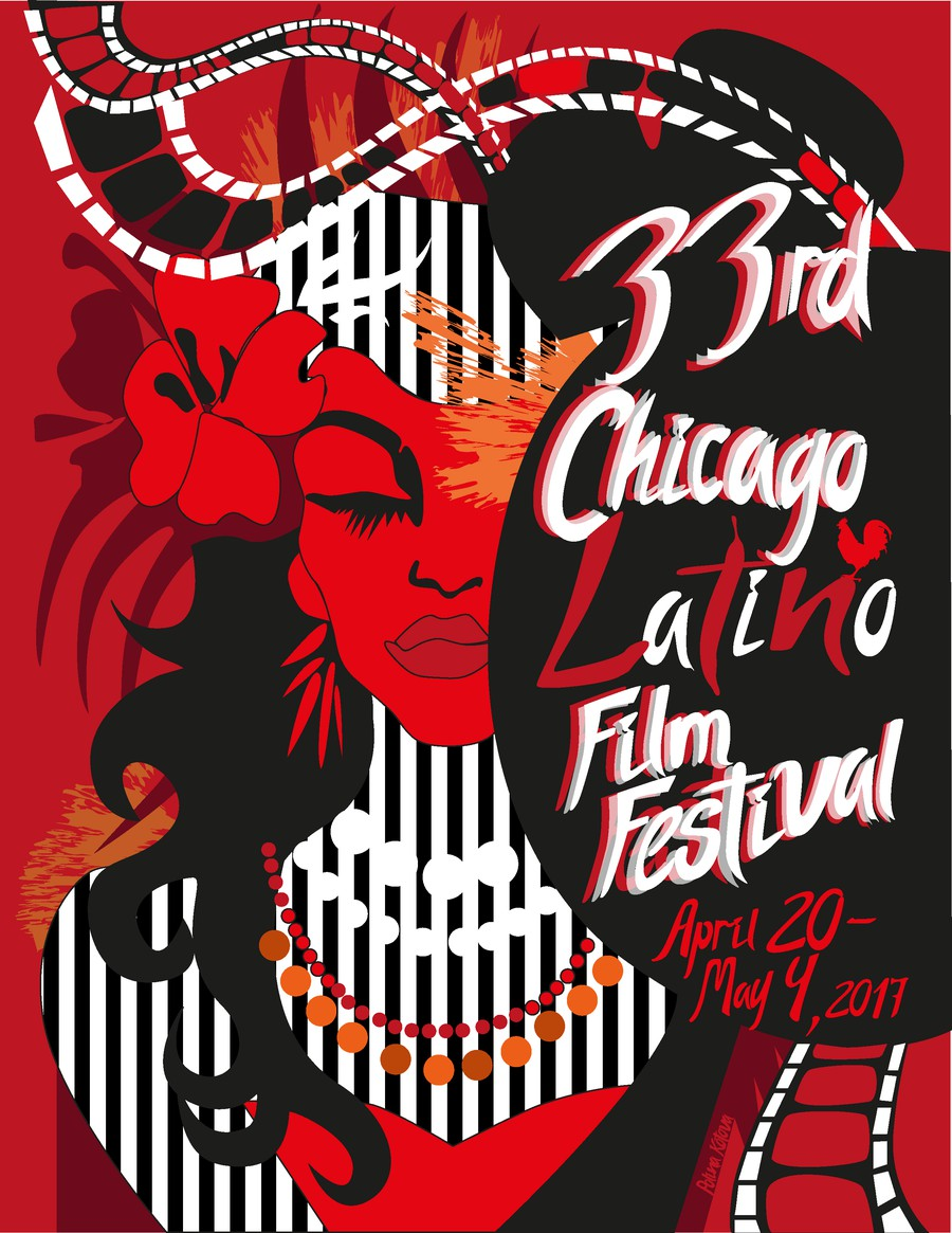 A finalist in a poster submission contest for the 33rd Chicago Latino Film Festival.