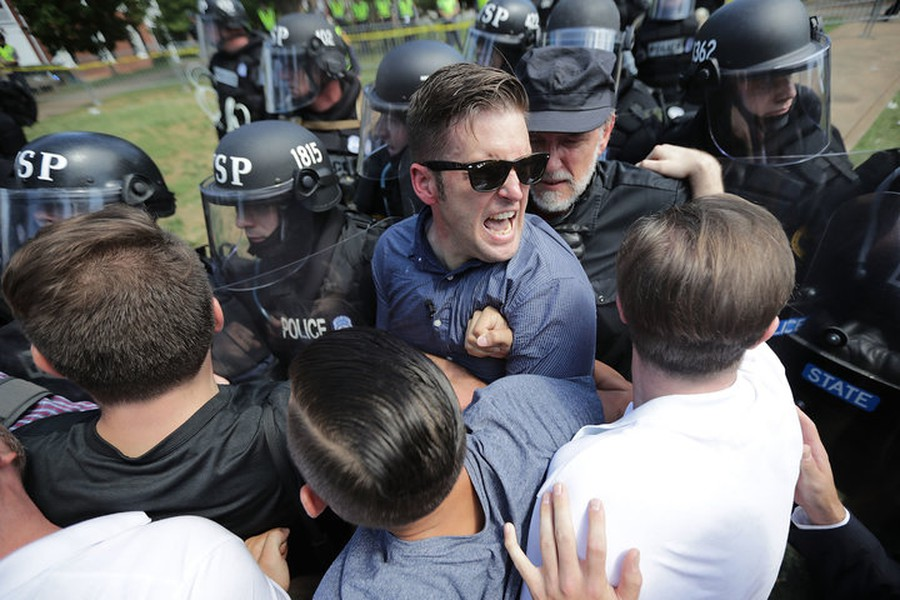 White nationalist Richard Spencer and his supporters clash with Virginia State Police.