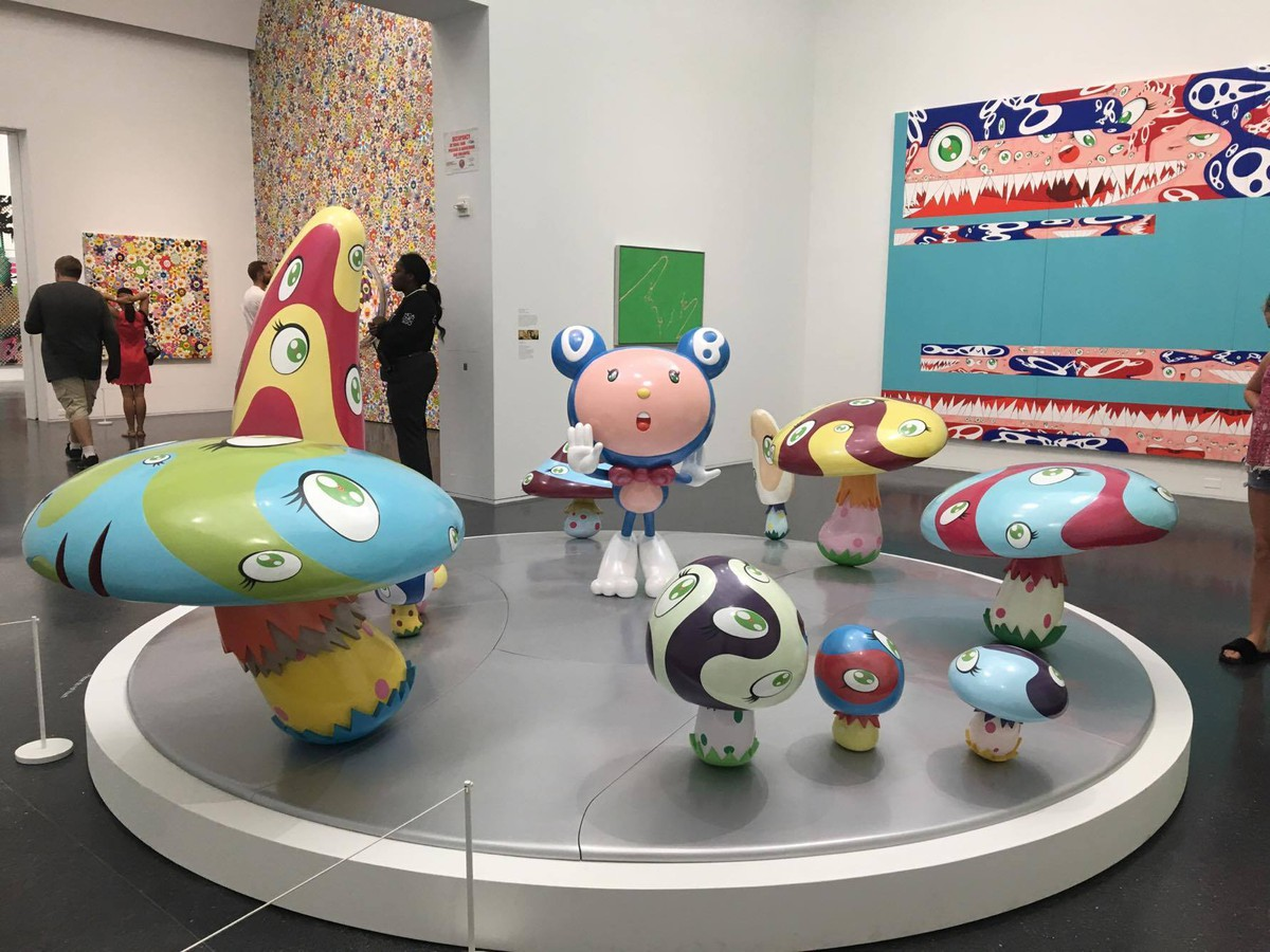 """Takashi Murakami's solo exhibition, """"The Octopus Eats Its Own Leg,"""" runs at the MCA until September 24."""