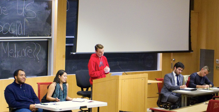 College Republicans and UC Democrats join a debate on medicare and social security hosted by the UChicago Political Union (UCPU).