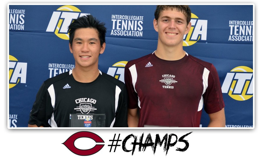 Tyler Raclin and Jeremy Yuan win the ITA Oracle Cup.