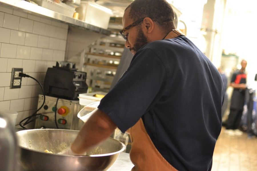 A10 executive chef James Martin gets hands-on in the kitchen.