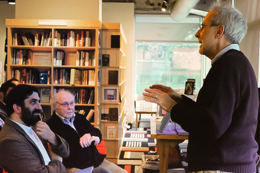 At an event last year, the Co-Op's current director listens to Jack Cella, his predecessor discuss the Co-Op's history.