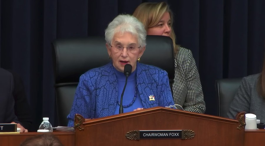 Representative Virginia Foxx (R-NC) chairs Tuesday's committee session.
