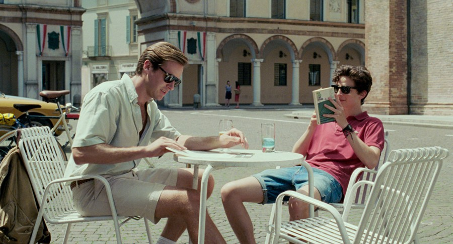 Oliver (Armie Hammer) and Elio (Timothée Chalamet) are the unlikely lovers at the center of Luca Guadagnino's latest drama.