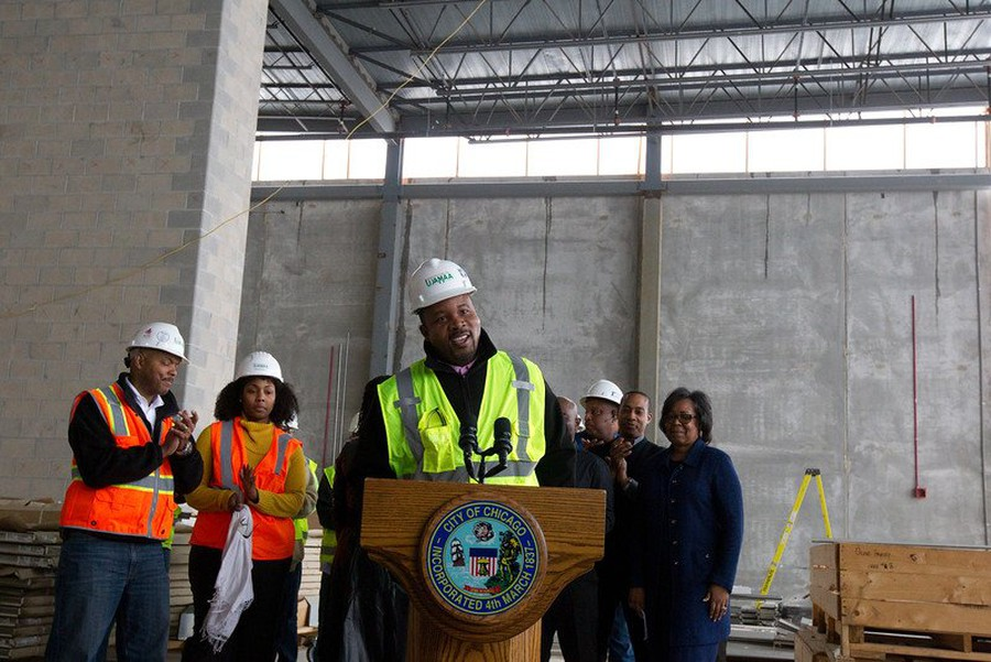 Pictured: Jimmy Akintonde, President and CEO of UJAMAA Construction, which is part of the collective of firms that will build the Center.