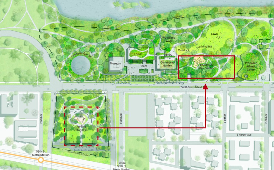 The Obama Foundation announced that the parking garage serving the Obama Presidential Center will be located under-ground in Jackson Park, not on the eastern end of the Midway, as had previously been announced.