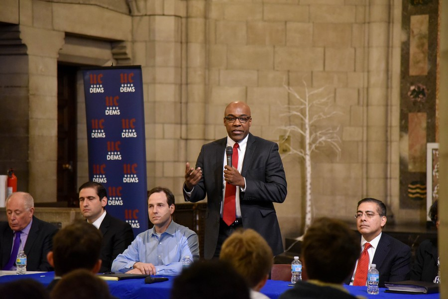 State Senator Kwame Raoul, who represents Hyde Park and much of the South Side and is the son of Haitian immigrants, expressed outrage about the recently reported comments.