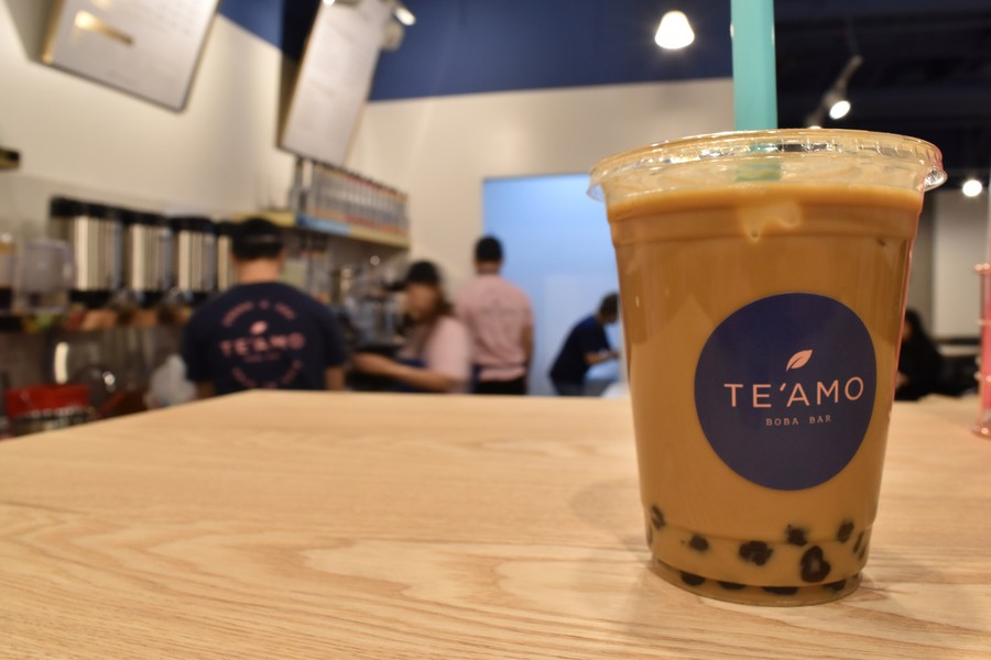 A busy day for Te Amo, Campus North's new boba café, since hosting a soft opening on Tuesday.