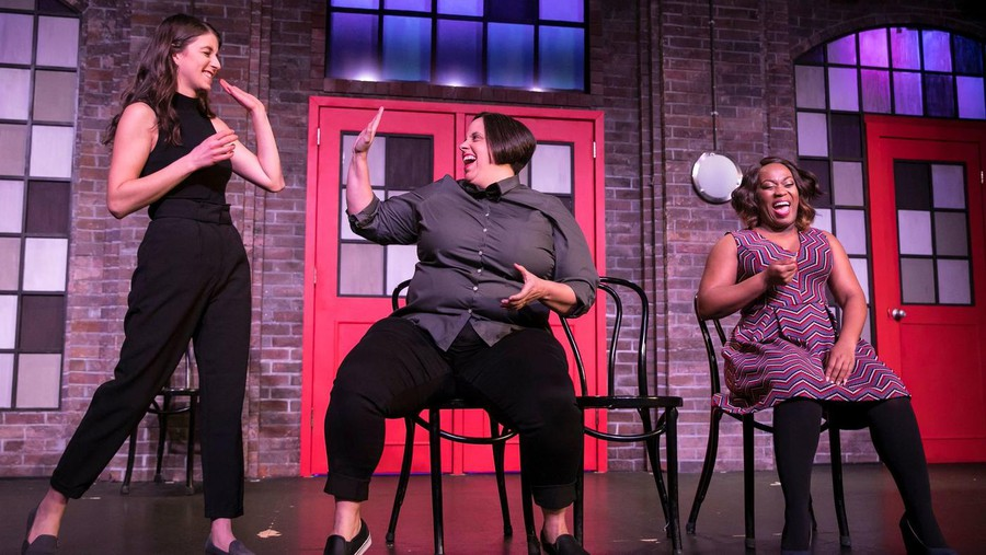 """Cast of """"She the People"""" from left to right: Maria Randazzo, Alex Bellisle, and Alexis J. Roston."""