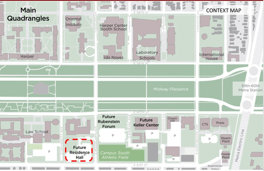 The location of the newly announced Woodlawn Residential Commons.