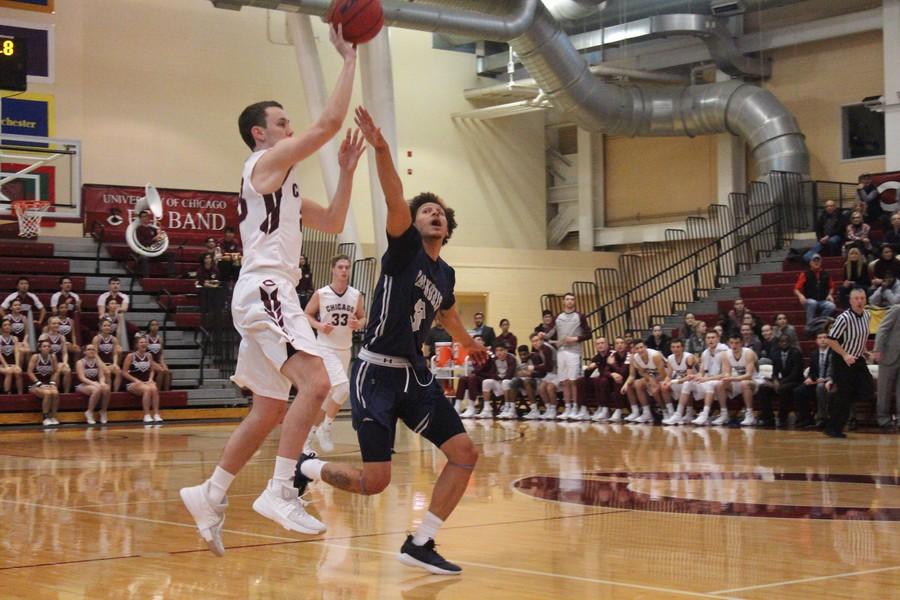 Second-year Jake Berhorst zips a pass across the court.