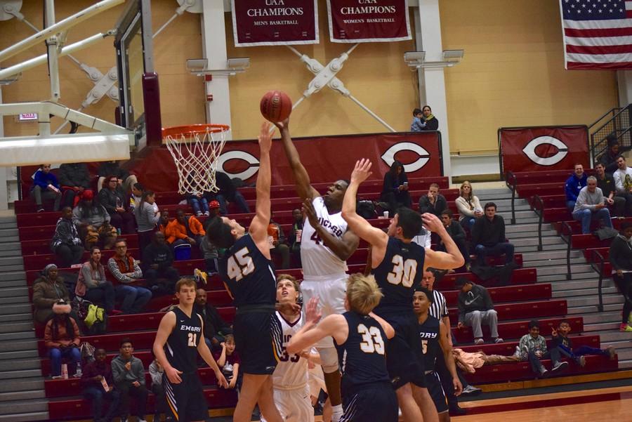 Third-year Justin Jackson rises up to make a basket.