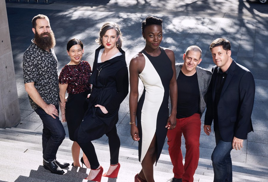 From left to right: Nathalie Joachim, flutes, Michael J. Maccaferri, clarinets, Yvonne Lam, violin & viola,