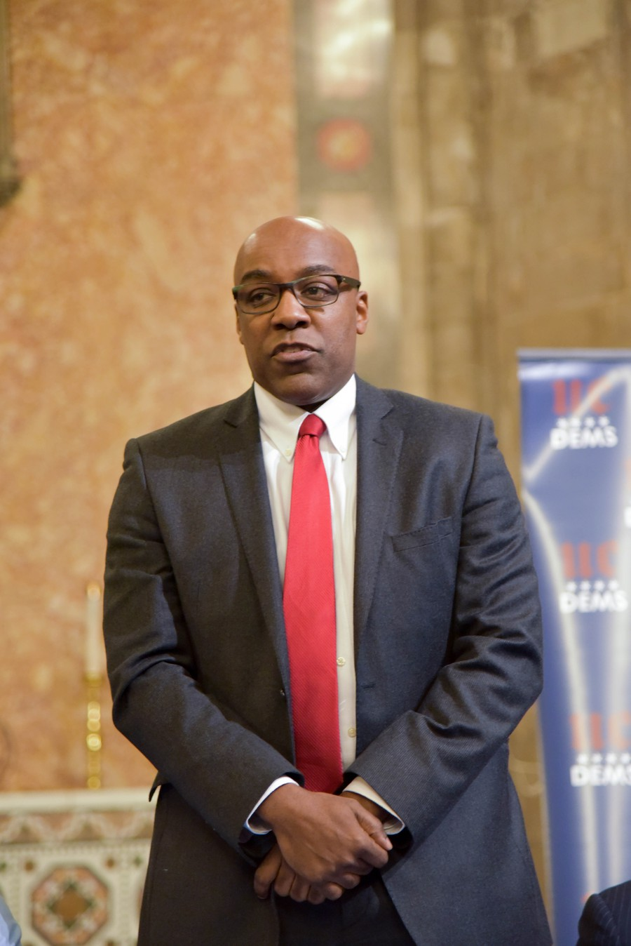 Kwame Raoul represents parts of Hyde Park in the State Senate and is running to be Illinois's Attorney General.