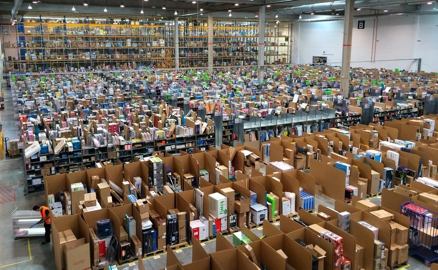 An Amazon facility in Spain.