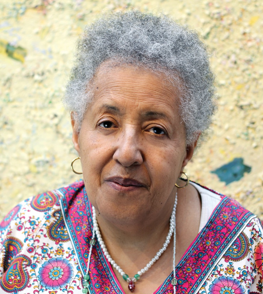 The painter Howardena Pindell.