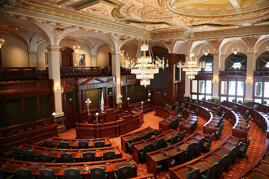 The chambers of the Illinois House of Representatives, which is considering its policies on sexual harassment as its leader faces a flurry of accusations against his office.