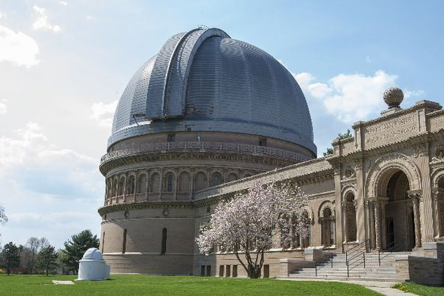 The main building at Yerkes Observatory, located in Williams Bay, Wisconsin