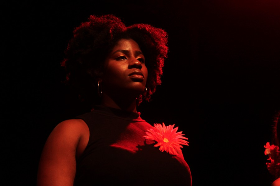 "Adaora Ekwonu plays one of the characters in Ntozake Shange's ""For Color Girls."""