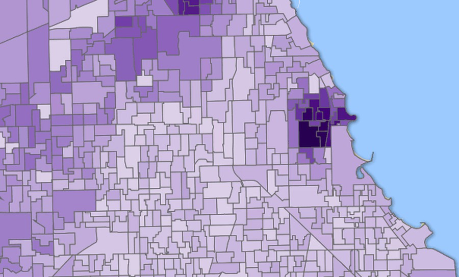 Democratic gubernatorial candidate Daniel Biss did especially well around Hyde Park.