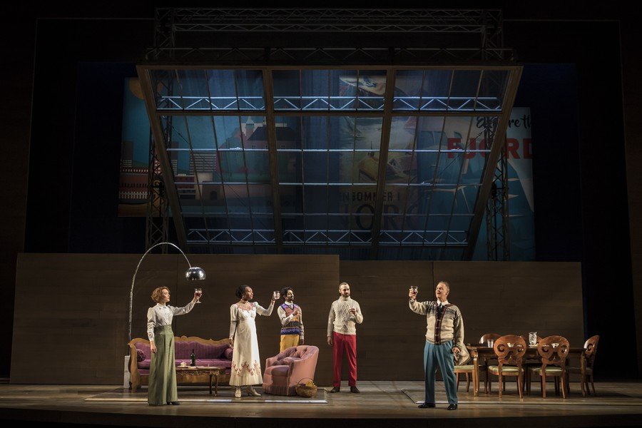 """Ibsen's """"An Enemy of the People,"""" with costumes by Ana Kuzmanic and set by Todd Rosenthal."""