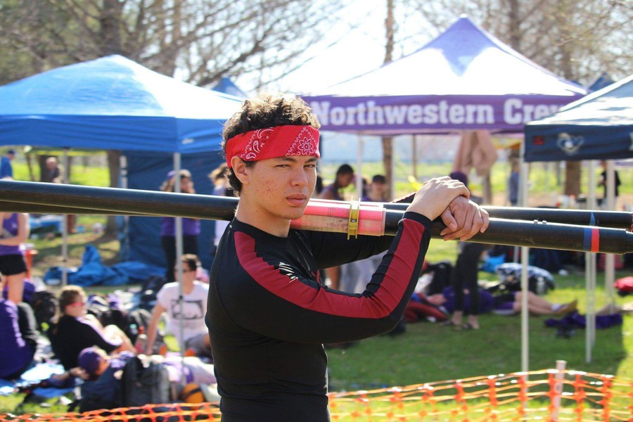 Charles Thomas rowed on the crew team at UChicago.