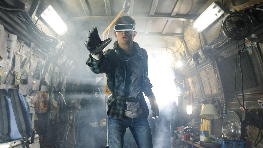 Tye Sheridan plays Wade, who escapes dystopian near-future Earth by adventuring through a glitzy virtual reality.