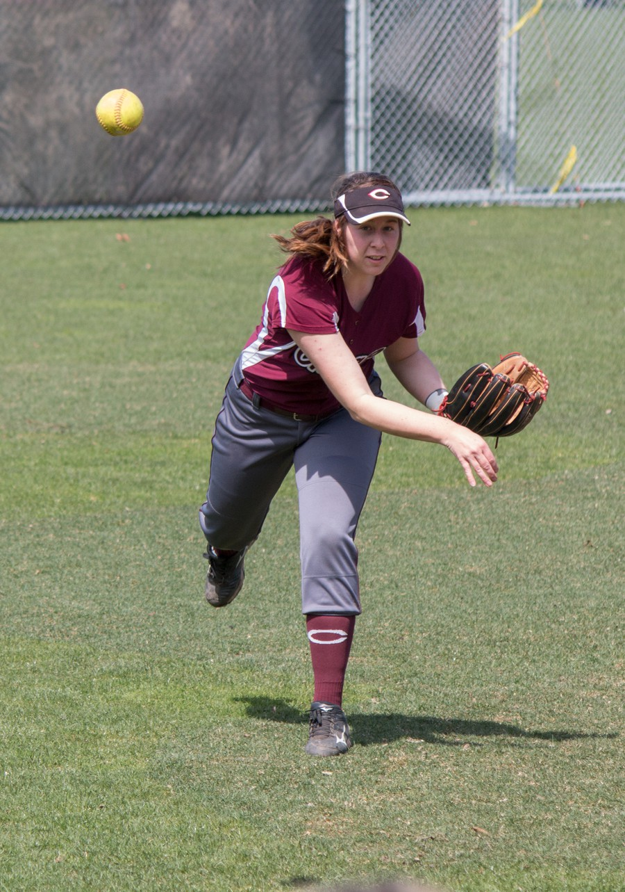 Third-year Maeve Garvey throws the ball in a previous game.