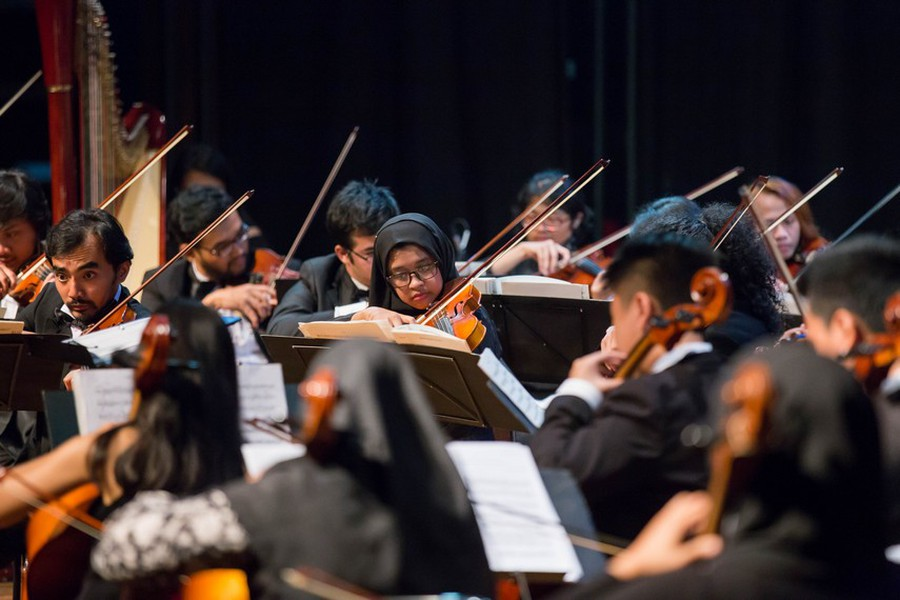 The Bandung Philharmonic during a September 2016 concert.