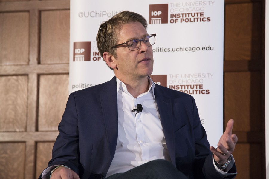 Former White House Press Secretary Jay Carney Speaks at the IOP on Monday.