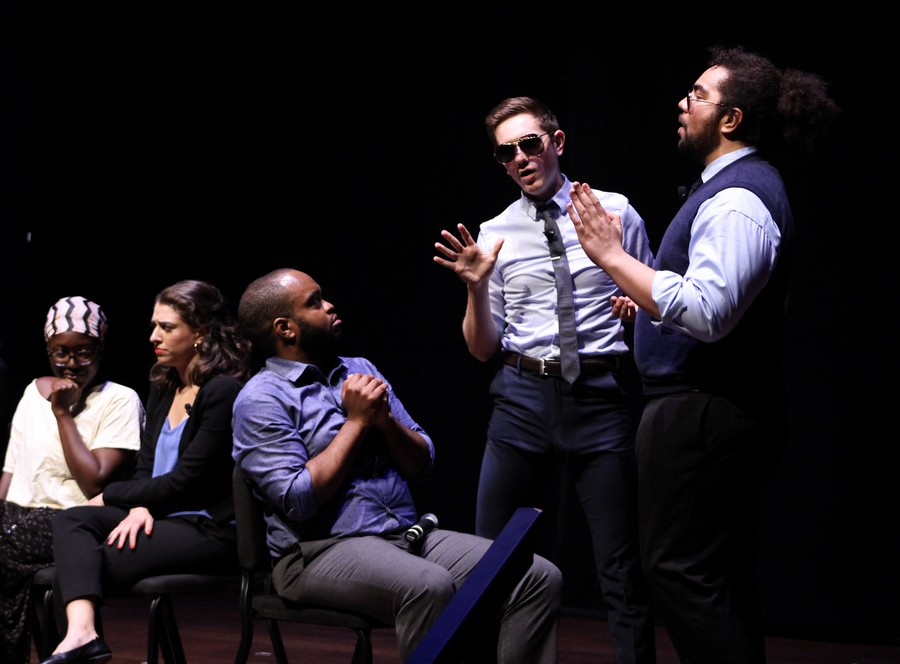 The Second City invited an audience member named Ada onstage for a sketch.