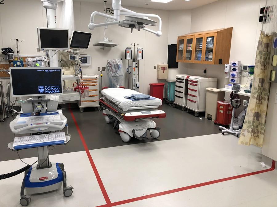 A trauma bay at UChicago Medicine.