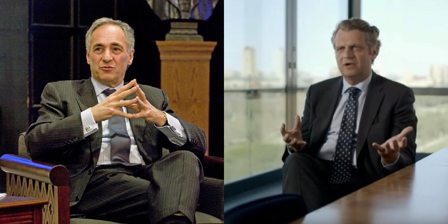 President Robert J. Zimmer (left) and Provost Daniel Diermeier (right)