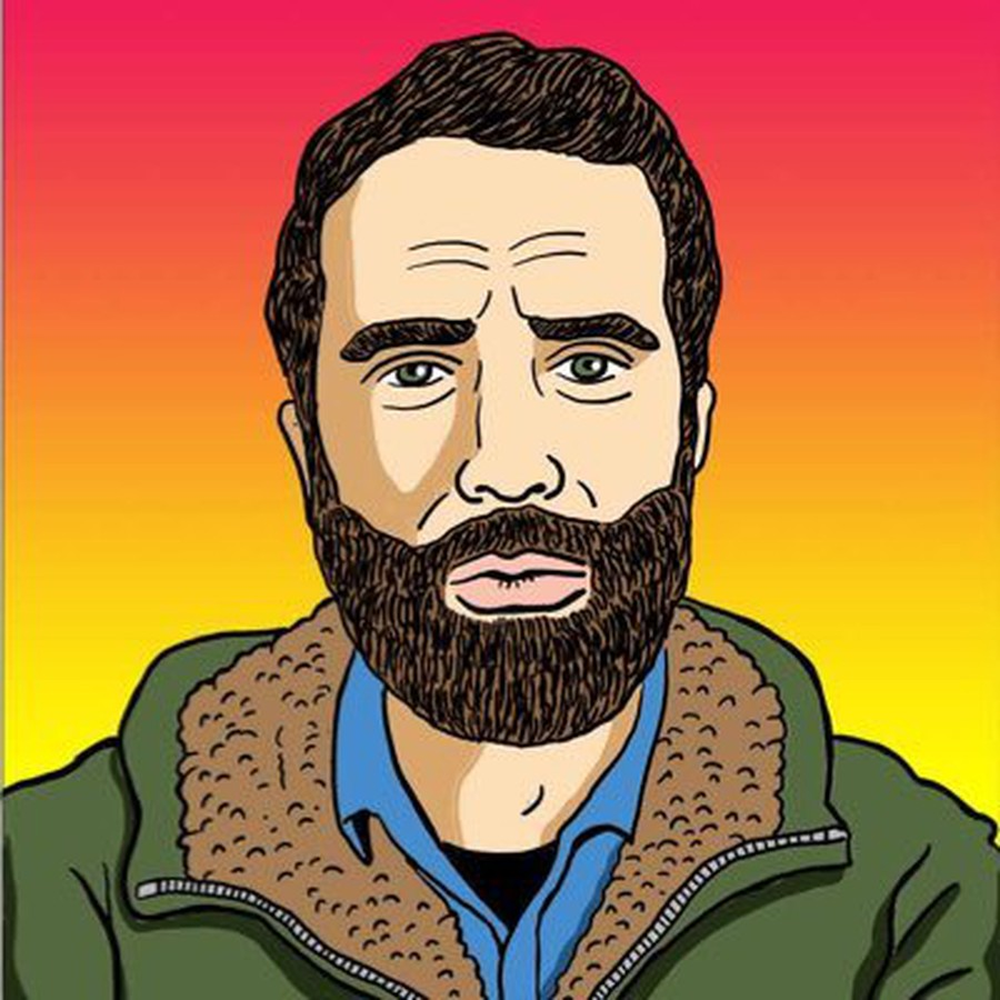 The Twitter avatar of David Klion (MA '09), designed by Tom Tomorrow.