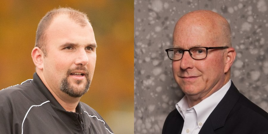 Coach John Bear (left, courtesy of UChicago) and parent Jeff Mason (right, courtesy of LinkedIn) are suing each other.
