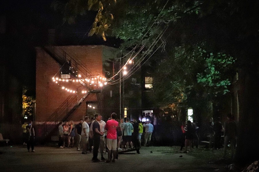 Delta Upsilon hosts a party on September 22, the first day of O-Week.