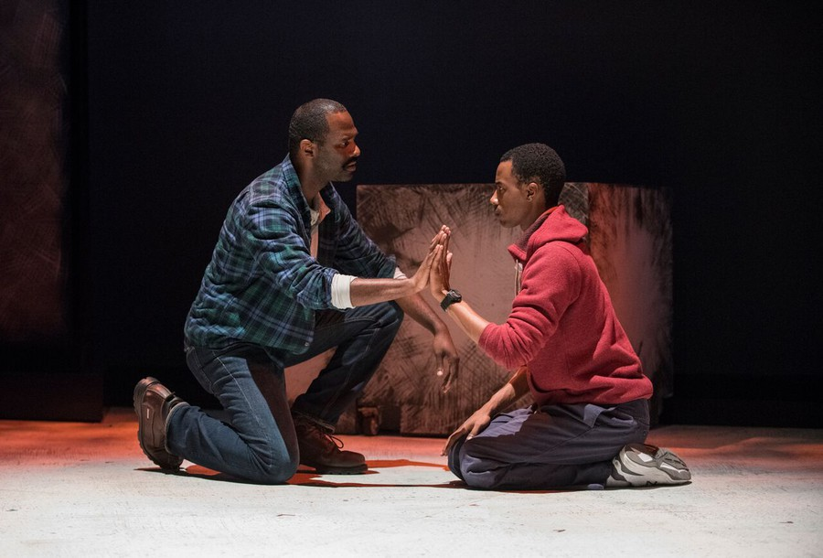 Ed (Terry Bell) struggles to connect with his son Christopher (Cedric Mays)