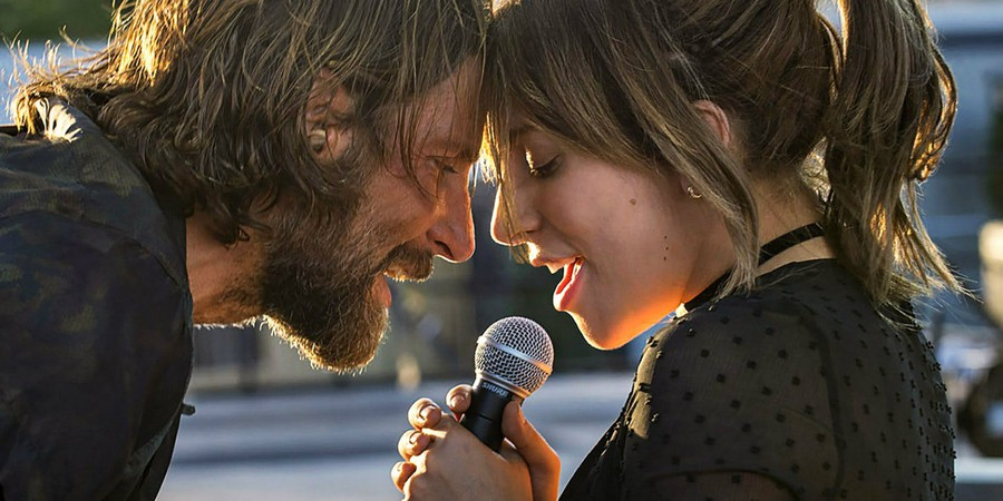 "Bradley Cooper and Lady Gaga in ""A Star is Born"""