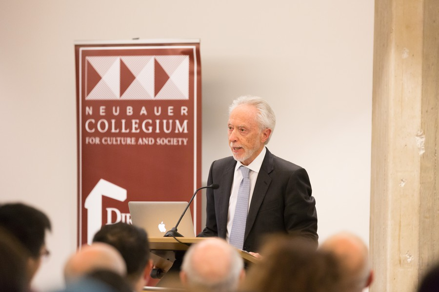 Coetzee spoke at the Regenstein Library last Tuesday.